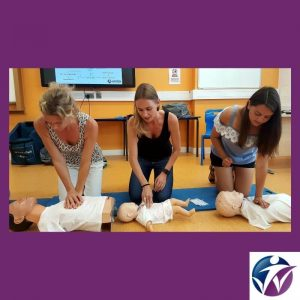 Our paediatric courses gives a perfect demonstration of the different techniques for CPR chest compressions on adults, children and babies.